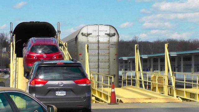 نحوه حمل و نقل ماشین با قطار